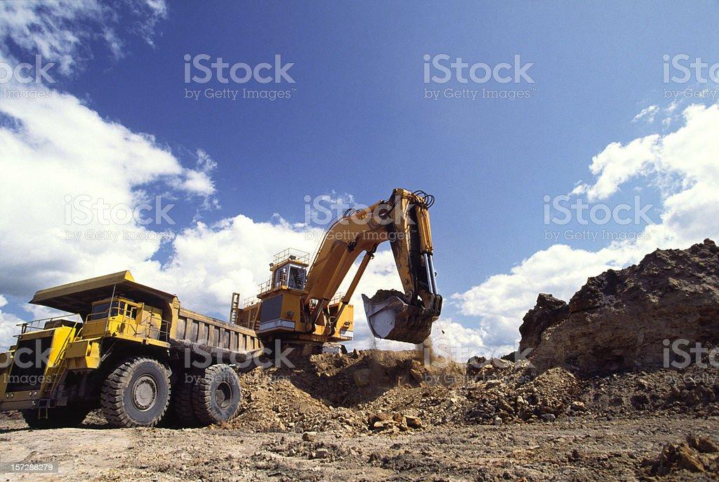 Excavation Vehicle & dump stock photo