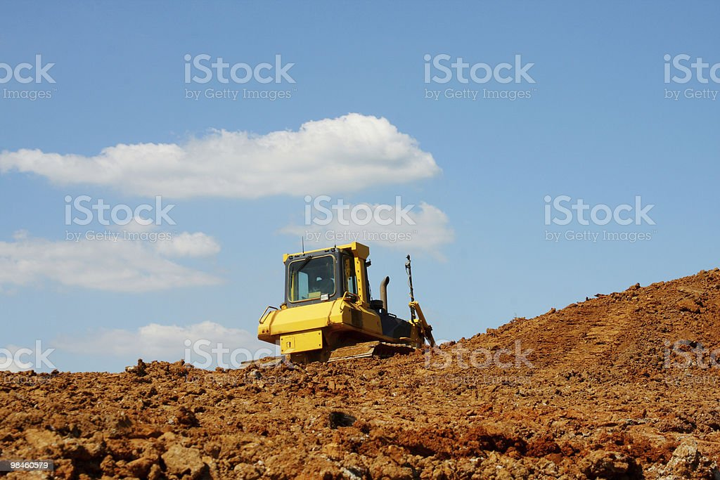Excavation View royalty-free stock photo