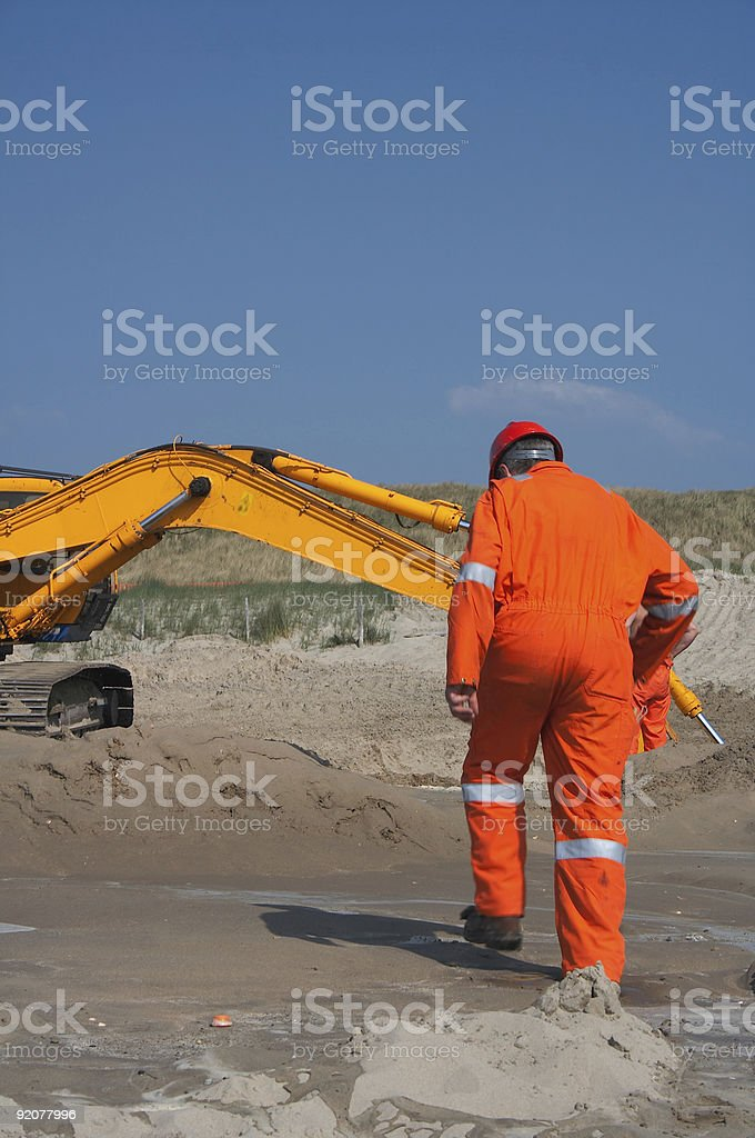 Excavation workforce royalty-free stock photo