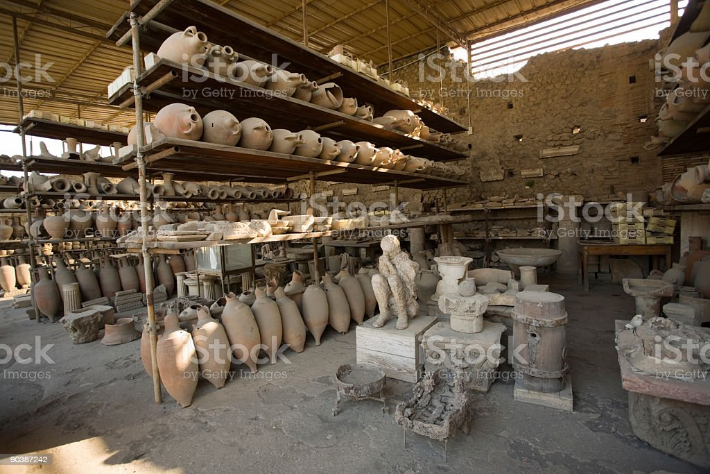 Excavations 2000 years old stock photo