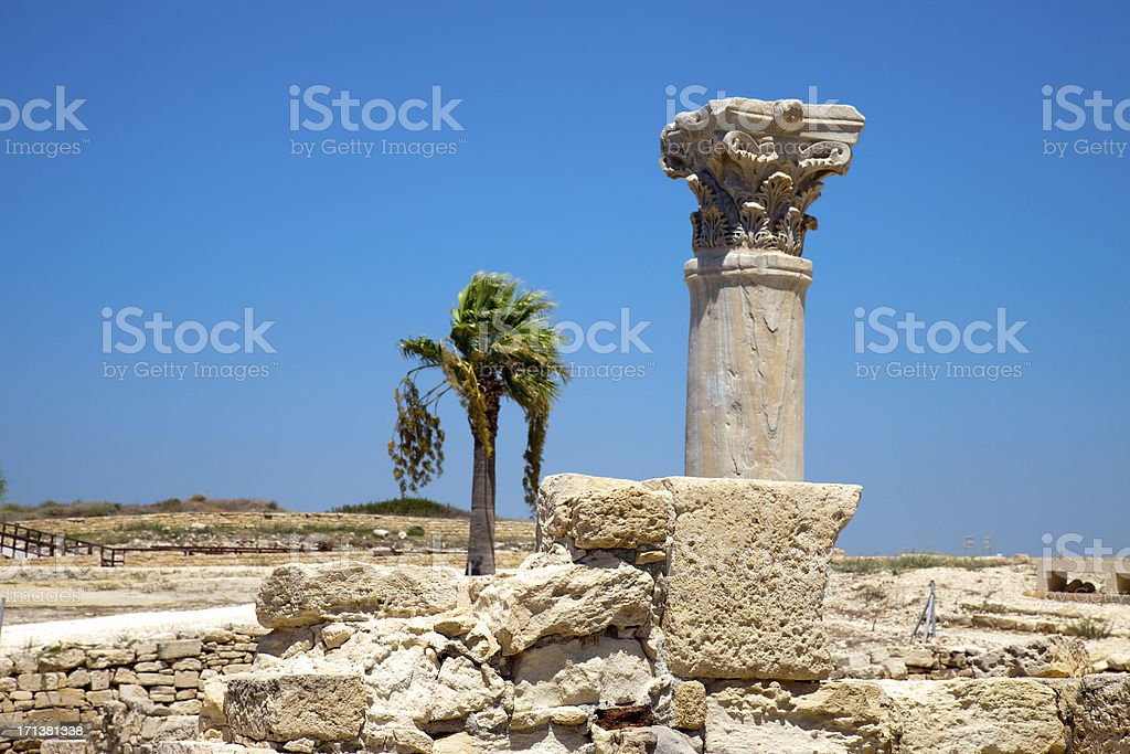 Excavations in Cyprus. royalty-free stock photo