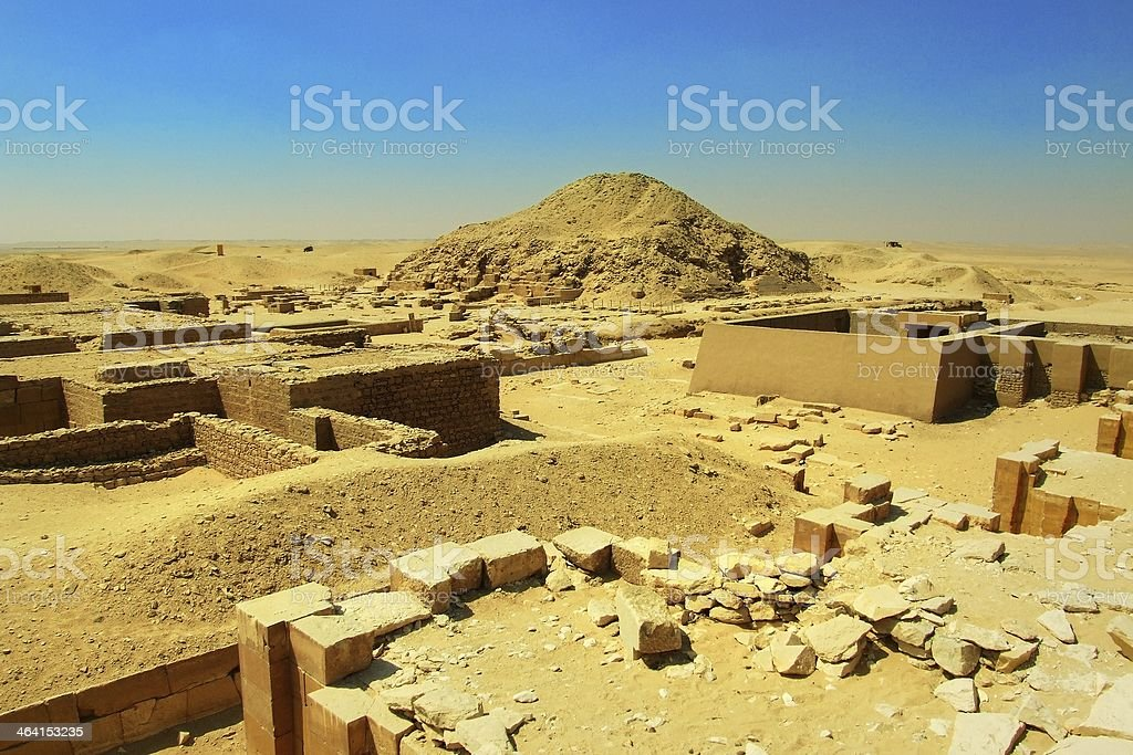 excavations near Dioser pyramid stock photo