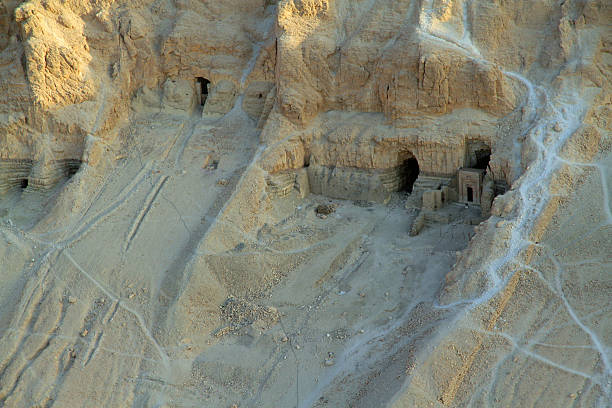 Excavations Valley of Kings Archaeological excavations are ongoing in the Valley of the Kings in Egypt valley of the kings stock pictures, royalty-free photos & images