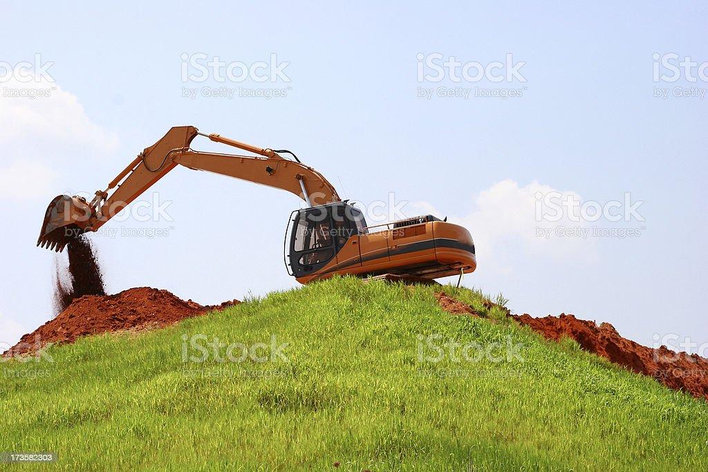 Excavator 3 royalty-free stock photo