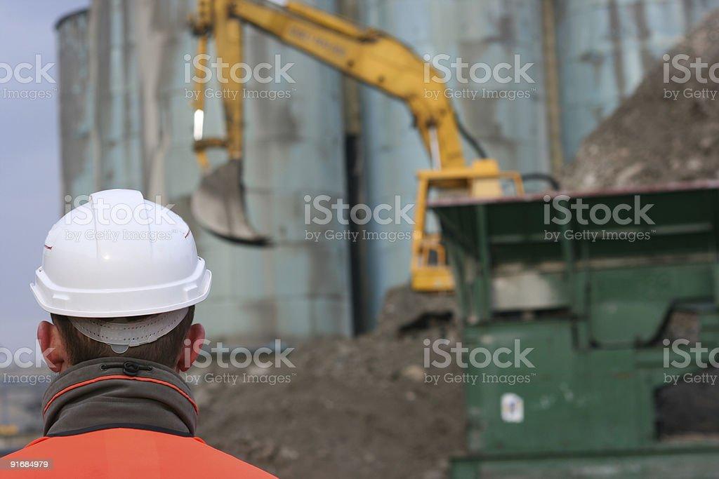 Excavator und Ingenieur – Foto