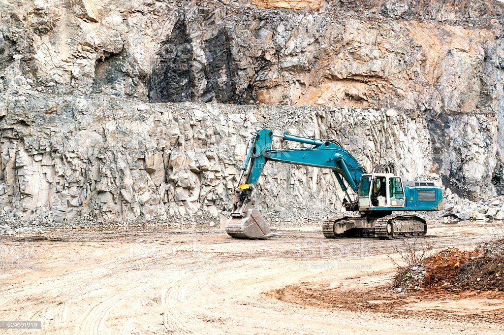 Excavator at Construction Site stock photo