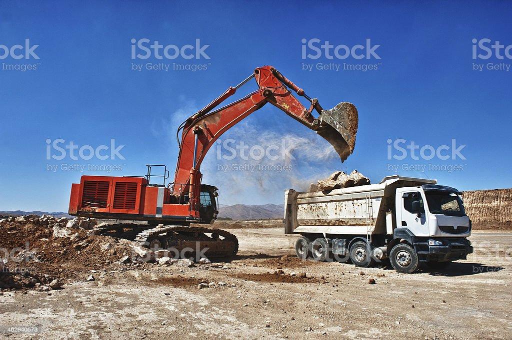 Excavator am Arbeitsplatz – Foto