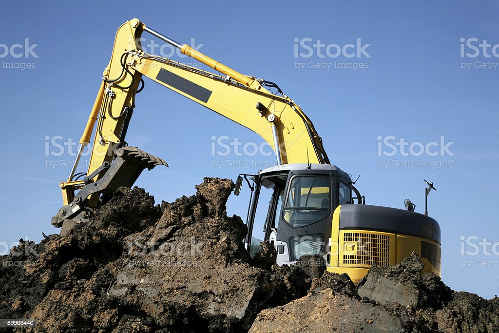 excavator at work royalty-free stock photo