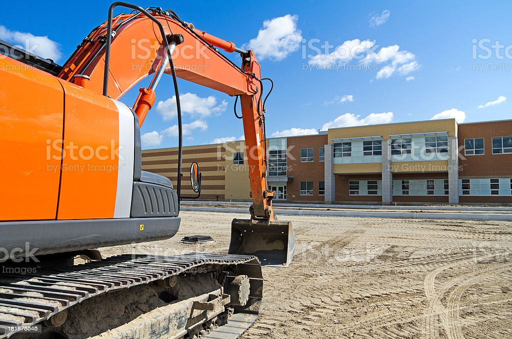 Excavator by New High School royalty-free stock photo