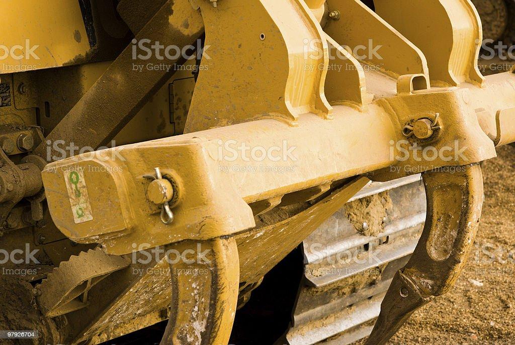 Excavator clamps royalty-free stock photo