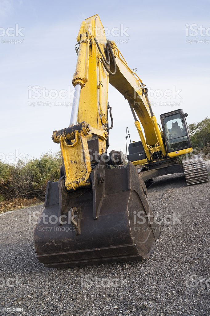 excavator - closeup of bucket royalty-free stock photo