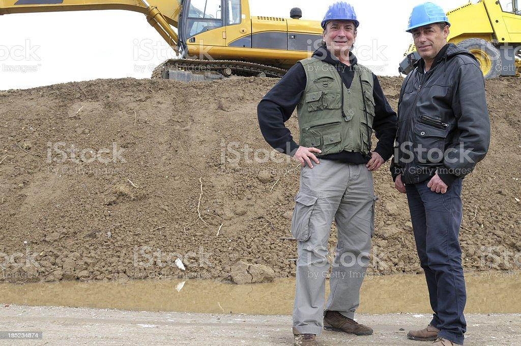 Excavator Drivers royalty-free stock photo