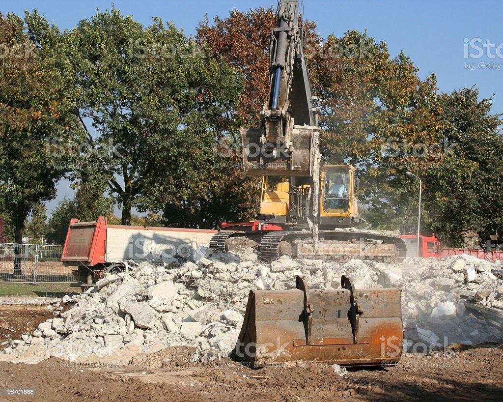 Excavator Grabbing Debrie royalty-free stock photo