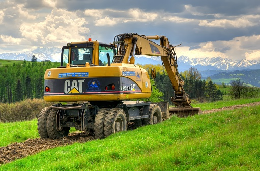 Excavator In The Area Stock Photo - Download Image Now