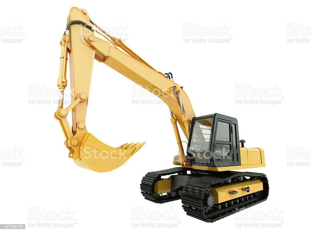 Excavator isolated stock photo