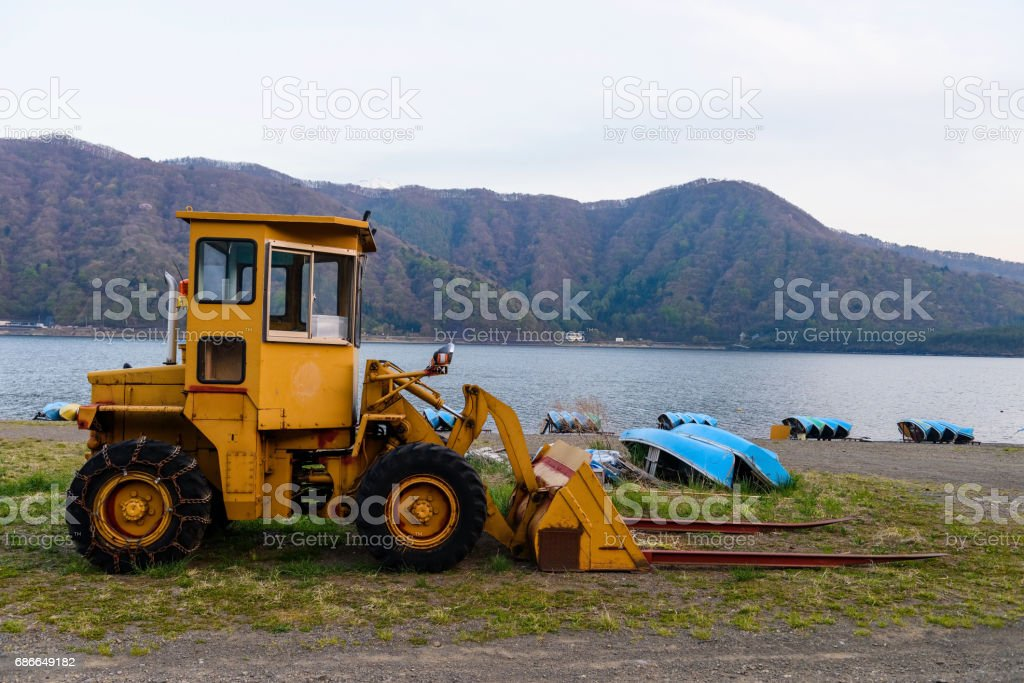 Excavator Loader with backhoe or earth moving royalty-free stock photo