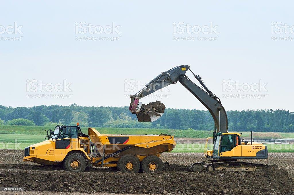 Excavator Lasten Erde Kipplaster – Foto