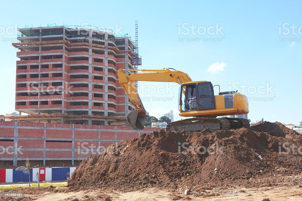 Excavator Machine At Site royalty-free stock photo