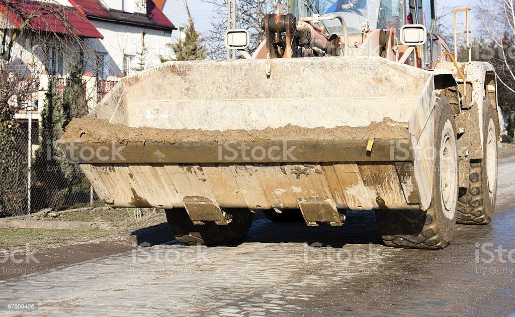 Excavator  on its way royalty-free stock photo