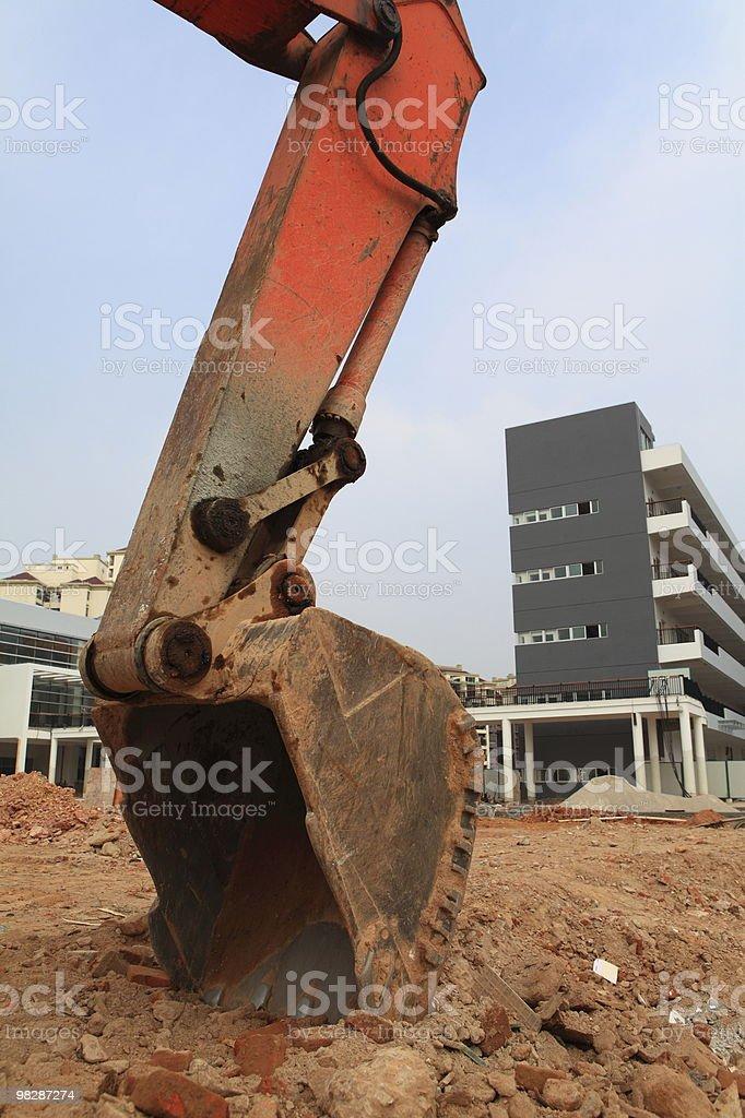 Excavator on site royalty-free stock photo