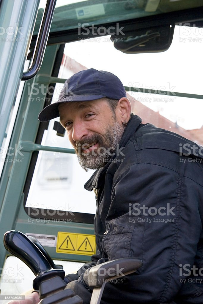 Excavator Operator royalty-free stock photo