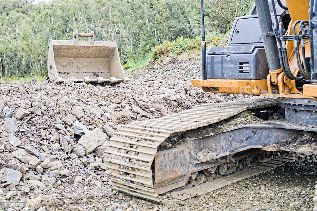 Excavator. stock photo