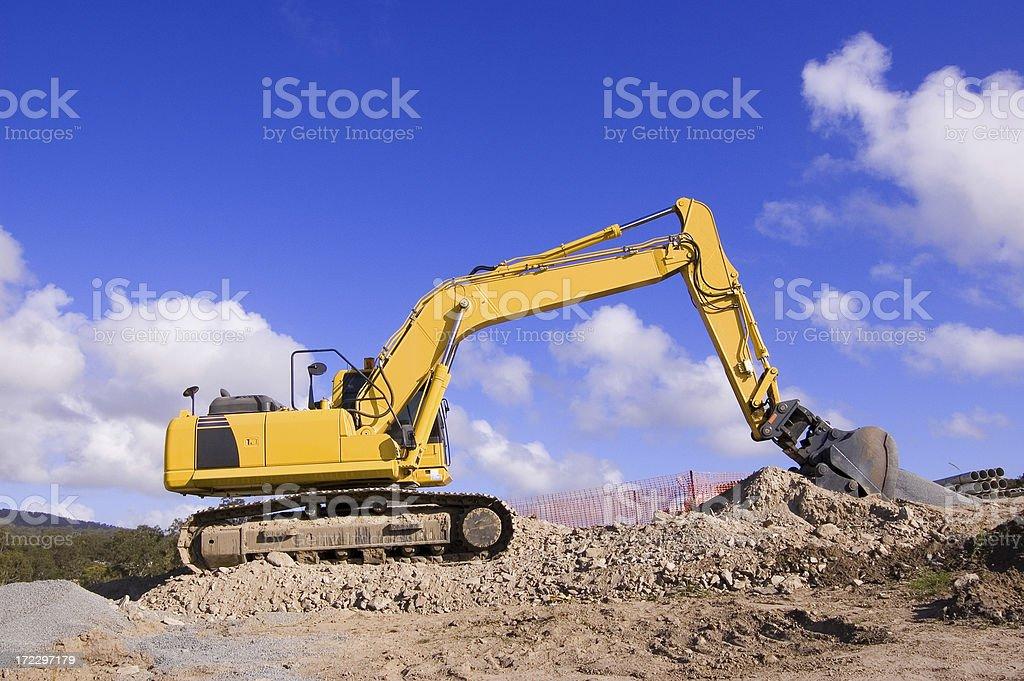 Excavator  Profile stock photo