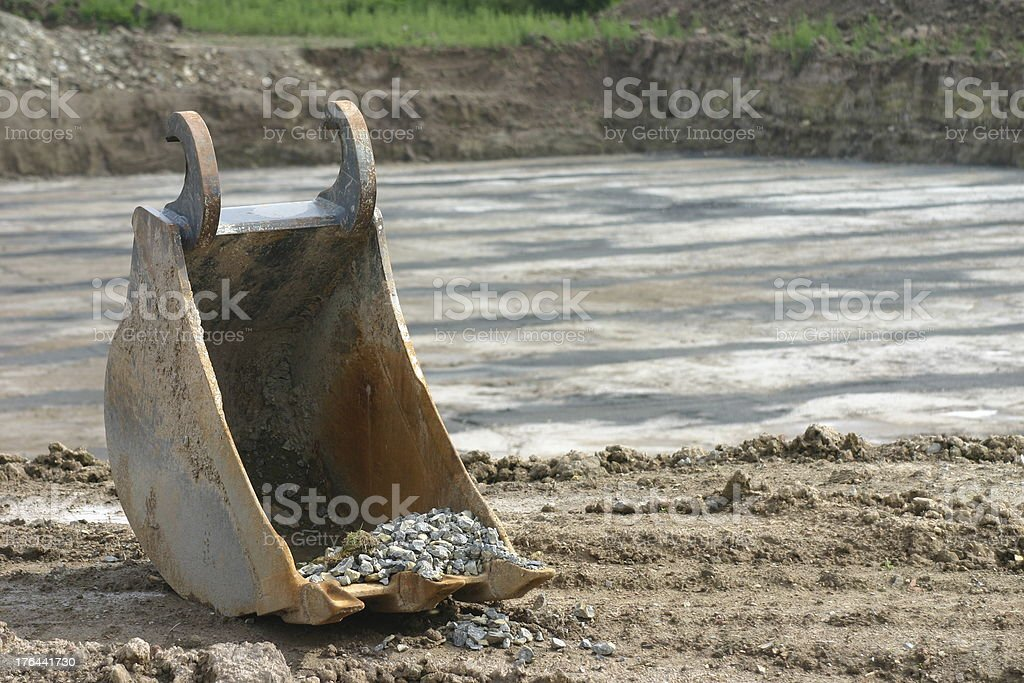 Excavator shovel royalty-free stock photo