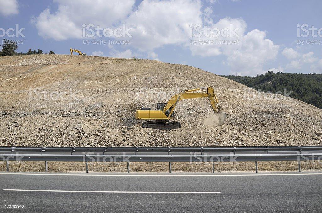 Excavators are Working royalty-free stock photo