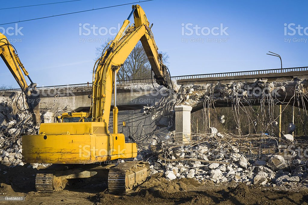 Excavators at work royalty-free stock photo