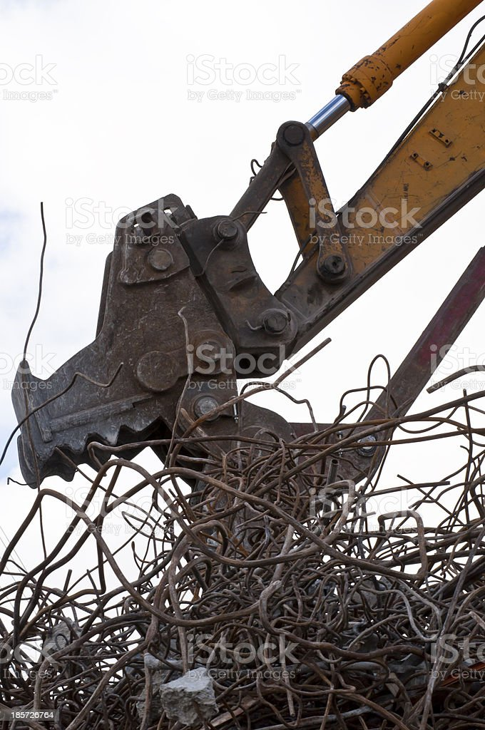Excavators Demolishing eating iron royalty-free stock photo