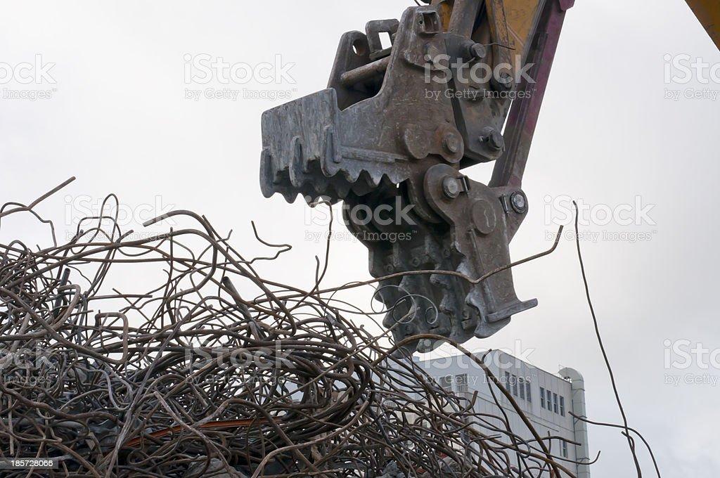 Excavators Demolishing eating iron royalty-free stock photo