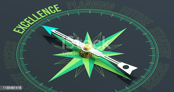836284468 istock photo Excellence Compass Concept 3D Rendering 1155461416