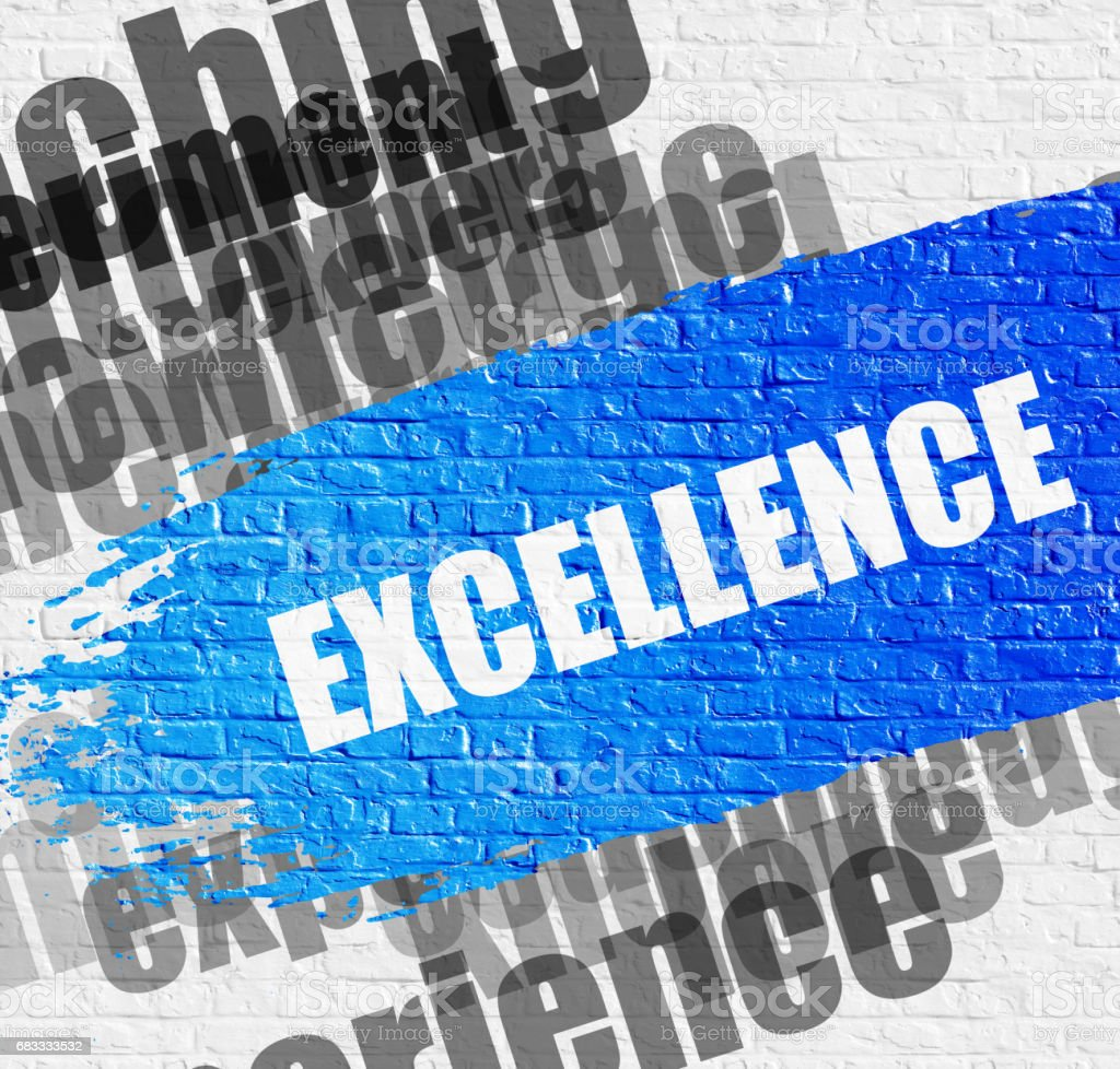 Excellence on the Brickwall royalty-free stock photo