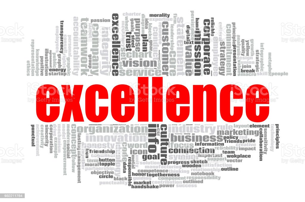 Excellence word cloud stock photo