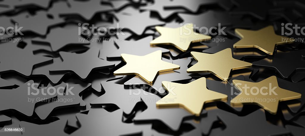 Excellent Customer Service, 6 Golden Stars. - foto de stock