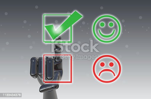 istock Excellent Customer Service Evaluation Form 1133434376