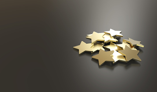 istock Excellent Customer Service golden stars 678083178