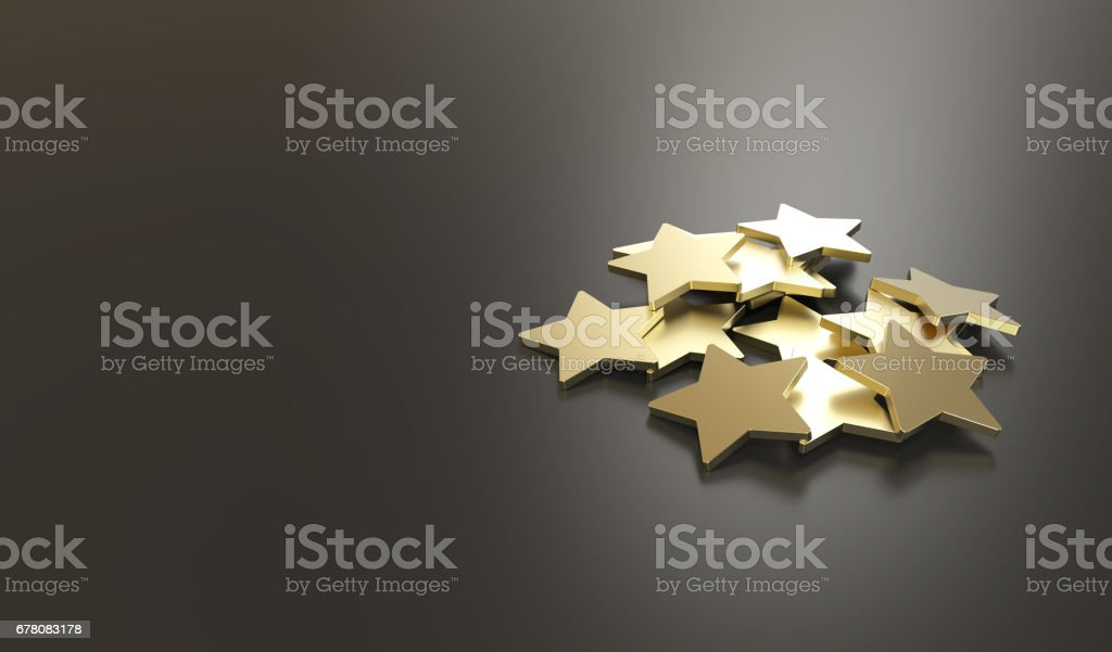 Excellent Customer Service golden stars stock photo