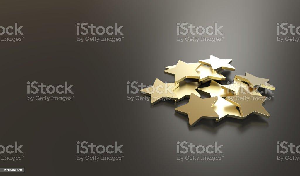 Estrelas de ouro de atendimento excelentes - foto de acervo