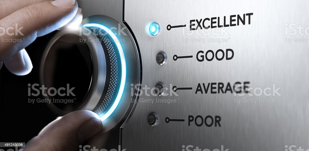 Excellent Customer Service stock photo