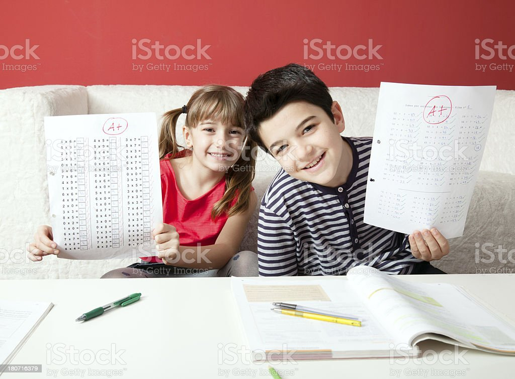 Excellent grades stock photo