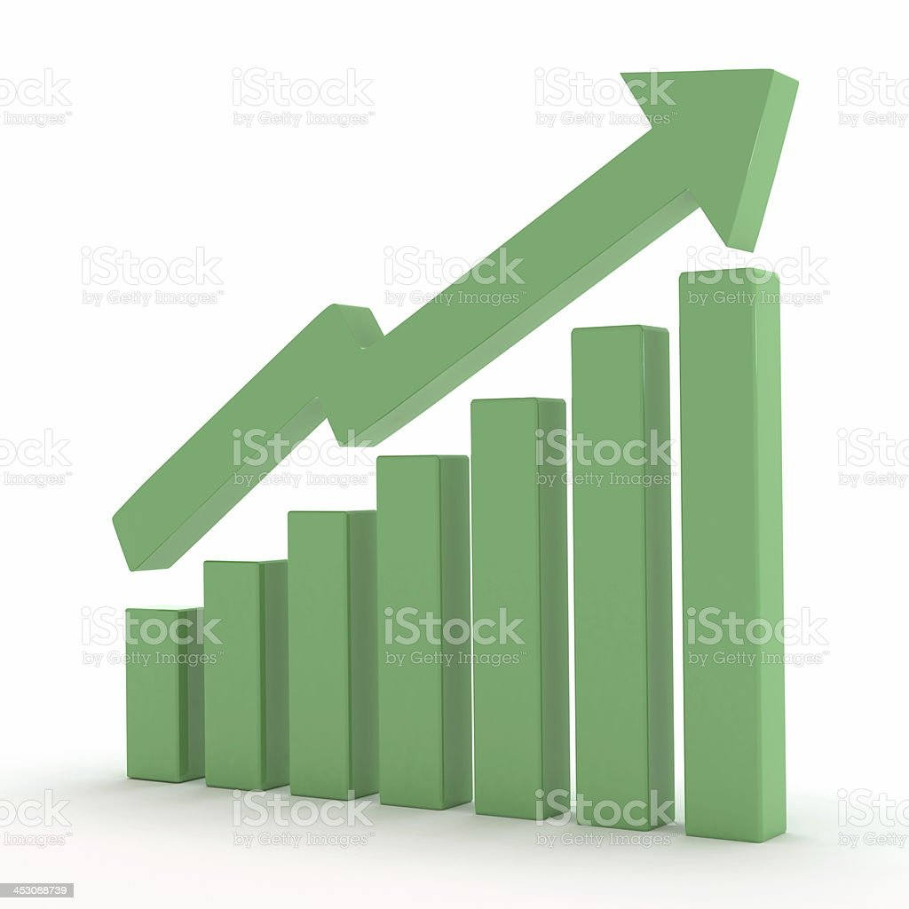 excellent market growth royalty-free stock photo
