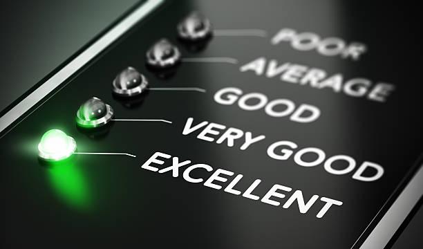 ausgezeichnete qualität - bewertungen von technologieprodukten stock-fotos und bilder