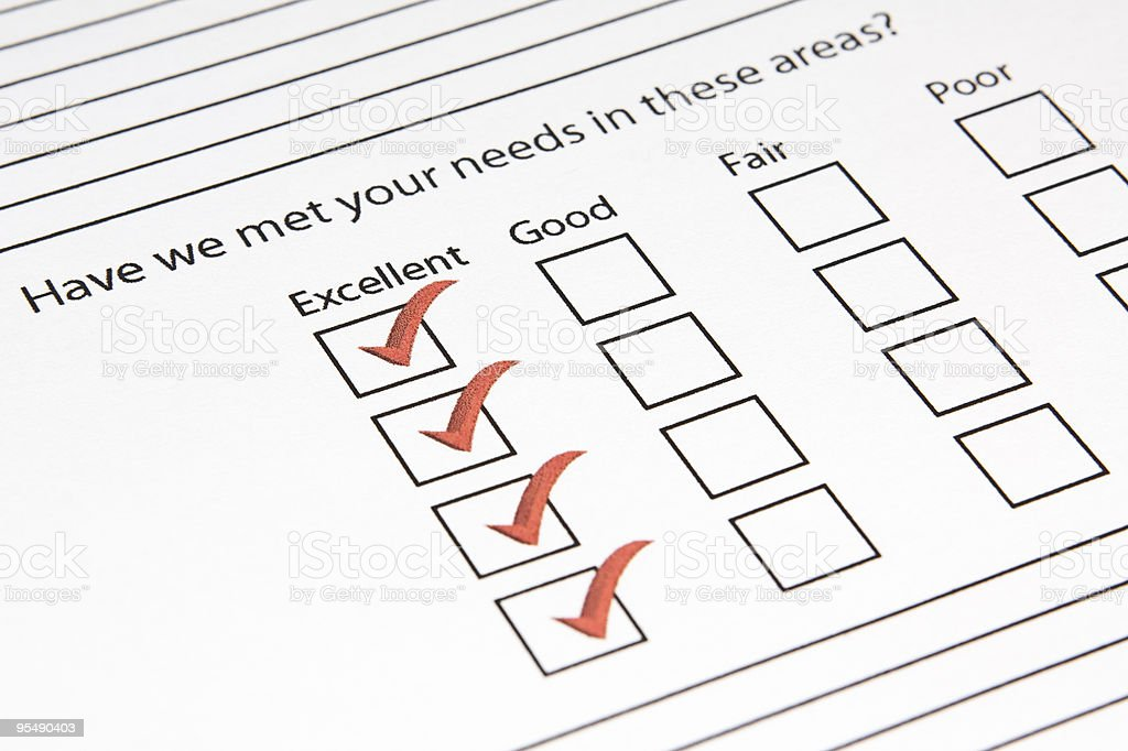 Excellent Questionnaire royalty-free stock photo