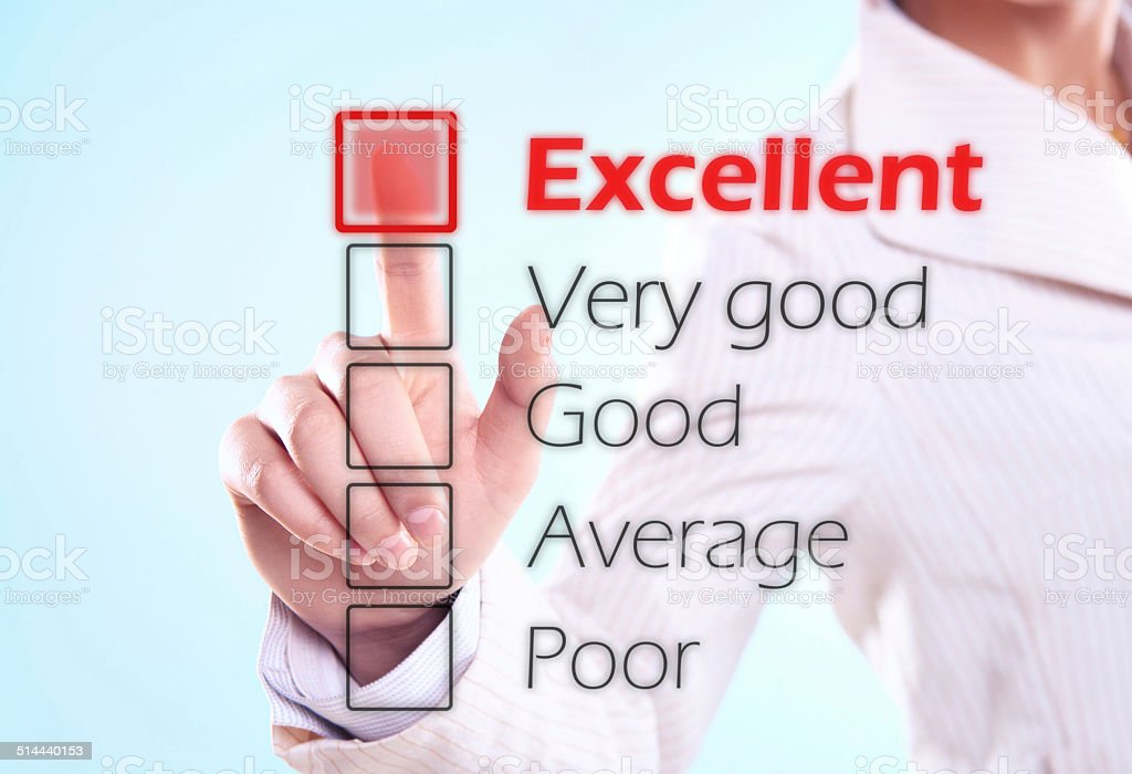 Excellent score(click for more) stock photo
