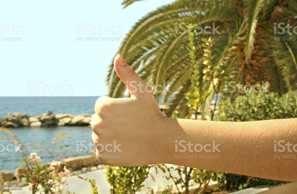 Excellent vacations - Royalty-free Blue Stock Photo