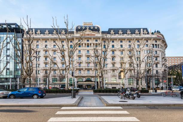 excelsior hotel gallia, ein luxury collection hotel, mailand, italien - hotel mailand stock-fotos und bilder