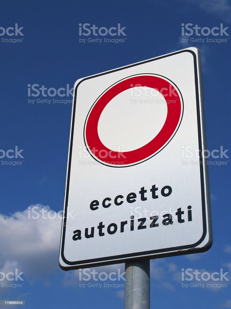 Except authorized traffic signal against blue sky - customizable royalty-free stock photo