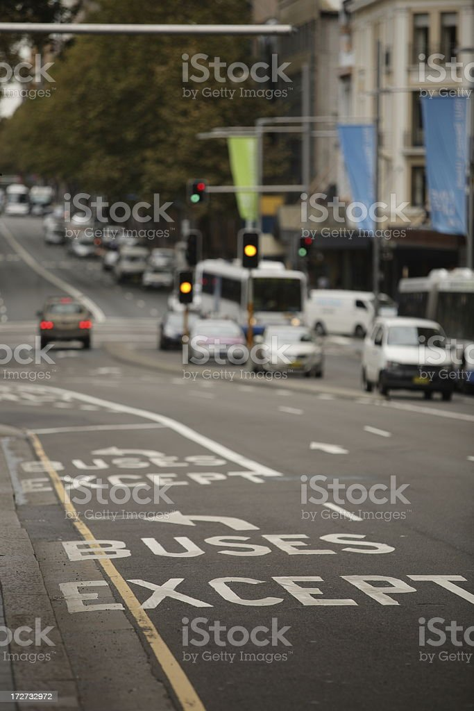 Except Buses royalty-free stock photo